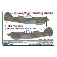 Curtiss P -40 K Warhawk - Camouflage Painting Masks