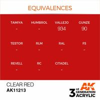 AK 11213 Clear Red