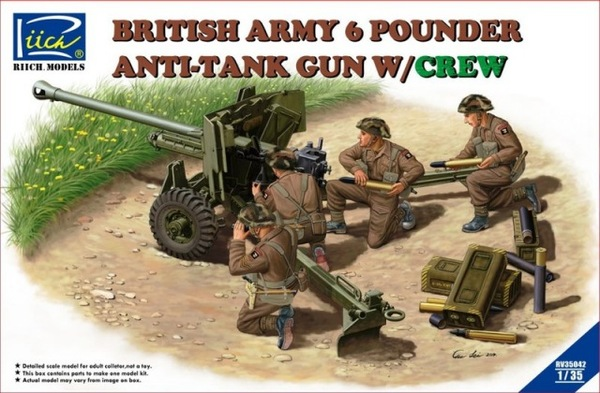 British Army 6 Pounder Anti-Tank Gun w/Crew - Image 1