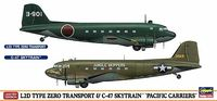 "L2D TYPE ZERO TRANSPORT & C-47 SKYTRAIN ""PACIFIC CARRIERS"" (Two kits in the box) - Image 1"