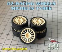 OZ-RACING 15/4 wheels + Michelin Tyres for HASEGAWA - Image 1