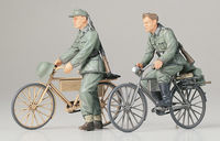 German Soldiers with Bicycles - Image 1