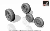 F-104G Starfighter wheels (w/ optional nose wheels) - Image 1