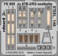 Ju 87B-2/R2 seatbelts STEEL  AIRFIX - Image 1